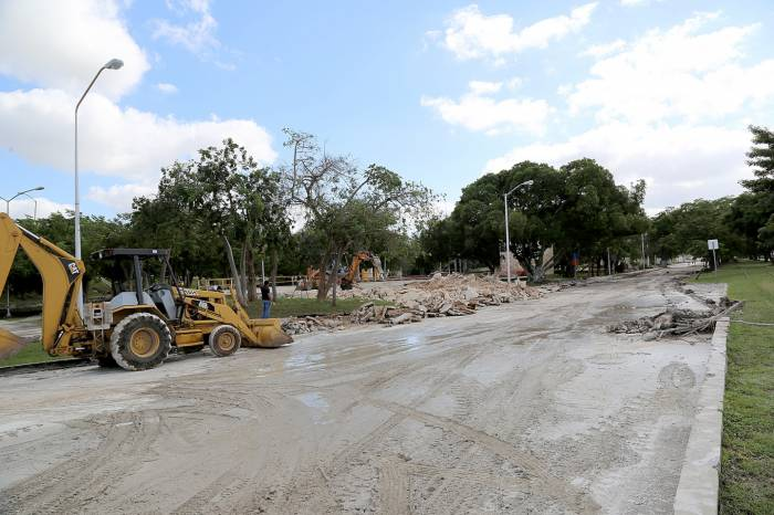 Construction works on Calle 60