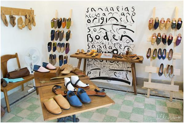 A selection of the shoes available