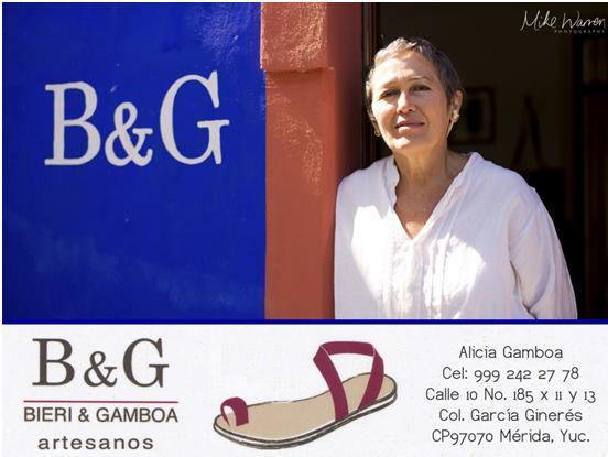 Alicia Gamboa, shoe artisan