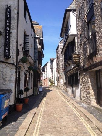 Ancient streets in Plymouth's Barbican district