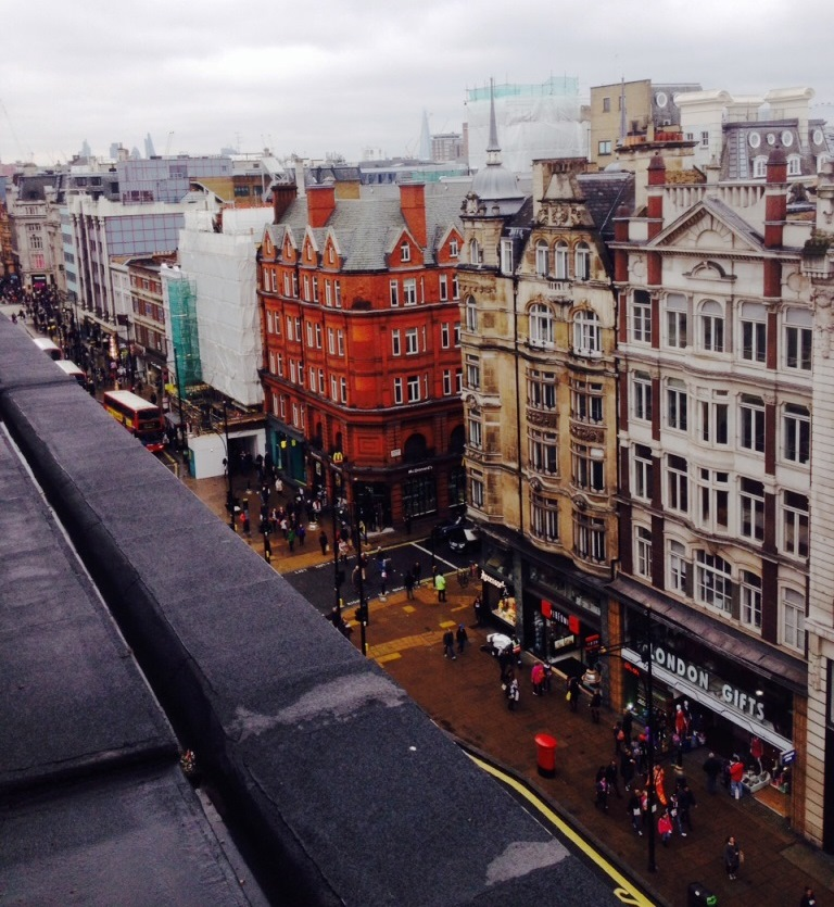 A unique view of Oxford Street from the roof of John Lewis