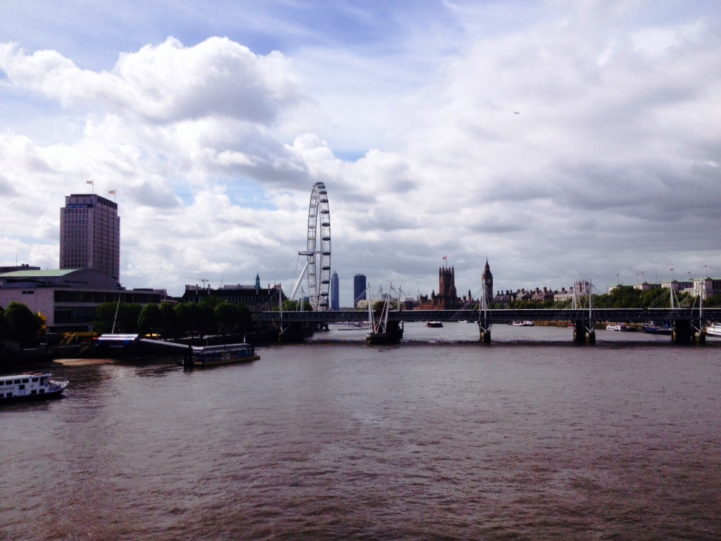 The River Thames from Waterloo Bridge
