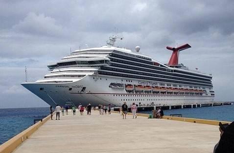 Carnival Triumph cruise ship docked in Progreso. (File photo)