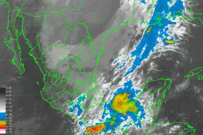 Cold Front 55 over the Yucatan Peninsula