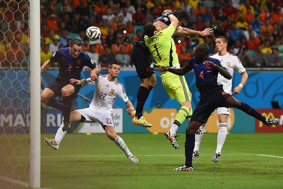 De Vrij's headed goal gave the Dutch a 3-1 lead in the 65th minute (Credit Fifa)