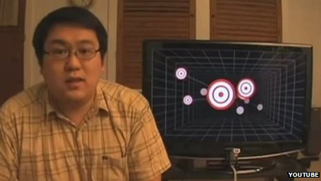 Johnny Chung Lee exhibited parallax effects in 2007 using an adapted Wii console remote control