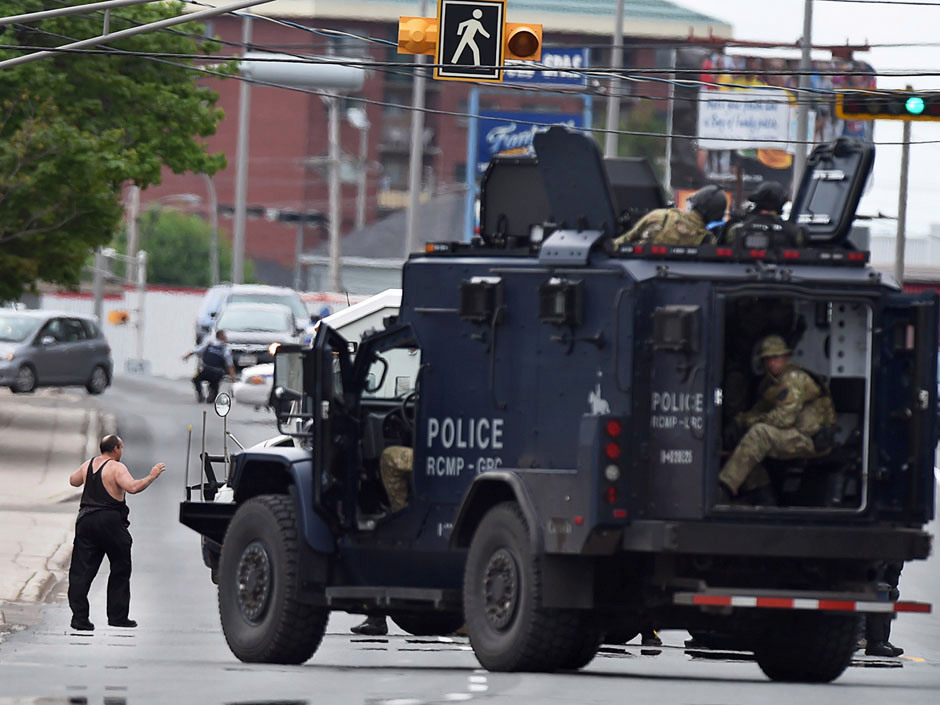 Canadian Police during a raid
