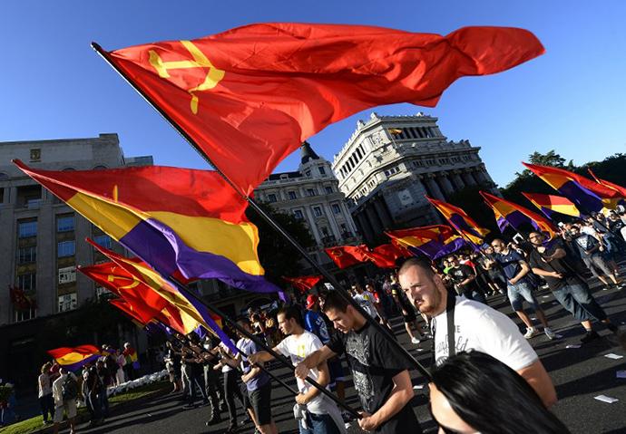Anti-royalist protesters   (AFP PHOTO / GERARD JULIEN)