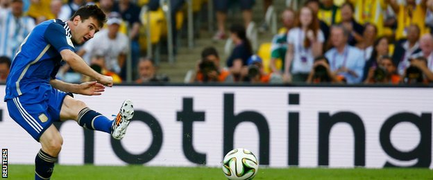 Argentina did not manage a shot on target, with Lionel Messi dragging a decent chance wide