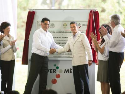 Peña Nieto during the inauguration of new infrastructure in Durango