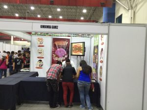 Kimbomba Stand at ANIMEX / GAMES XP in Monterrey, Mexico