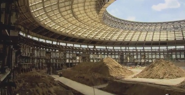 Construction Work ongoing at Russia for 2018 World Cup