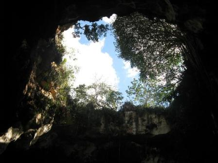 Awesome sky view from down the cave