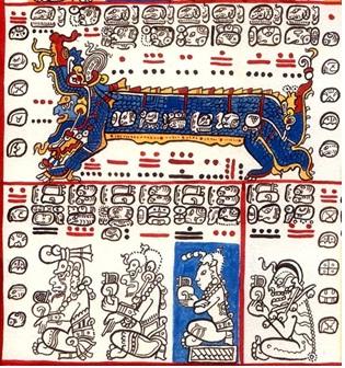 Page 4, Dresden Codex Sächsische Landesbibliothek, Dresden, Germany