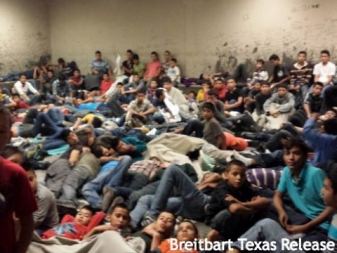 Last week, the politics website Breitbart Texas released U.S. government photos depicting the conditions that undocumented immigrants are experiencing while being held by Customs and Border Protection. (PHOTO: BREITBART TEXAS)