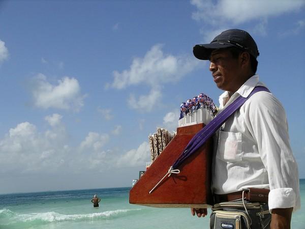 """Playa del Carmen """"Beach vendor"""""""