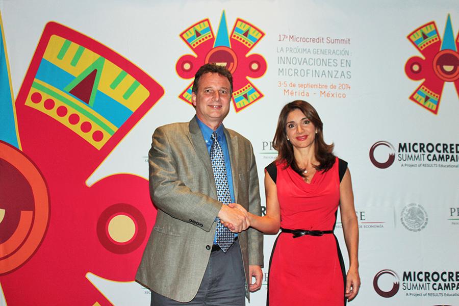 Larry Reed, Director Microcredit Summit Campaign Elenitza Canavati Hadjopulos, General Coordinator  National Microenterprise Financing Program (PRONAFIM), Mexico