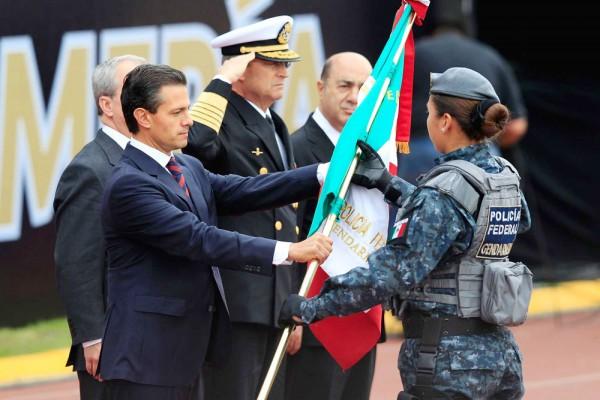Peña Nieto at the inauguration ceremony