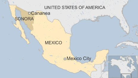 Cananea, Sonora is just a few miles South of the US border