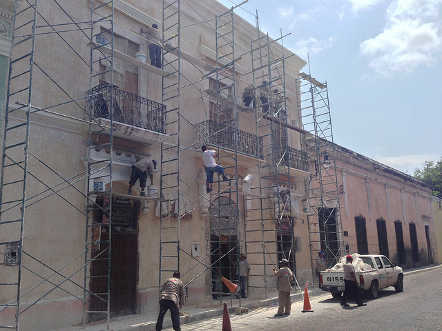 Construction Works in Downtown Merida