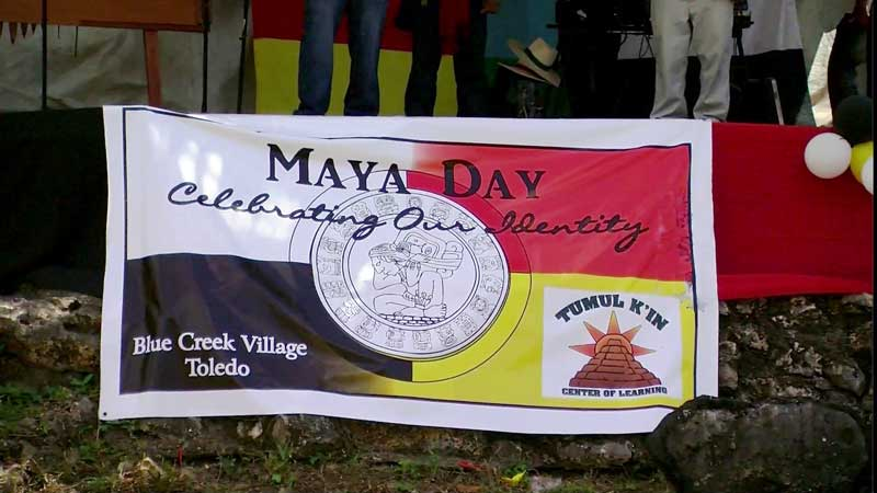 Screen capture of the Maya Day festival in Belize. Video by Genner Llanes-Ortiz