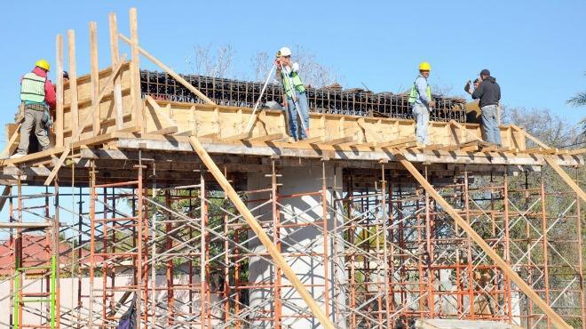 Construction workers in Mérida, Yuc. (Photo: Pedro Mentado | UN1ÓN )