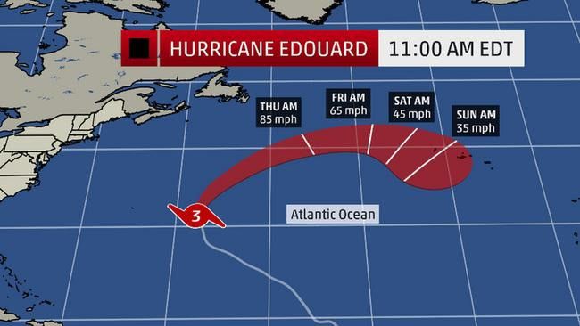 Hurricane Edouard Projected Path (The Weather Channel)