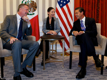 Pena Nieto met with Bill de Blasio in New York City (Photo: laprimeraplana.com.mx)