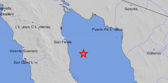 Magnitude-4.9 Earthquake Reported Off Baja California Peninsula