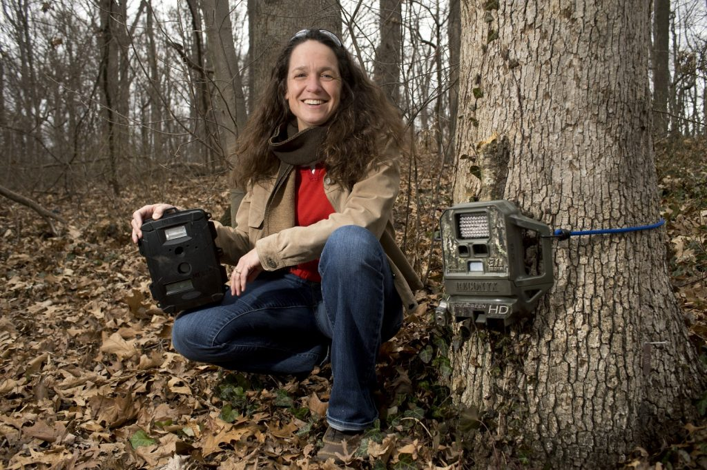 Marcella Kelly with some of the cameras she uses for photographing wildlife. (Photo: Logan Wallace WP)