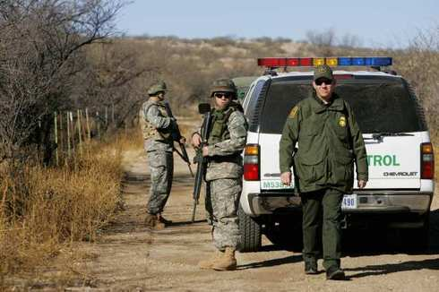 National Guard and Border Patrol team up at the border