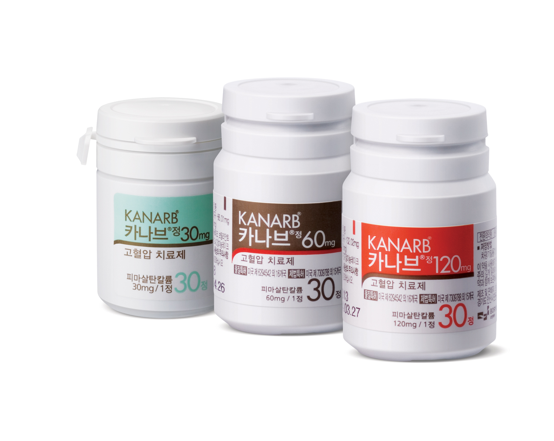 Boryung's Kanarb has shown strong effectiveness in reducing blood pressure both in diastolic and systolic periods.