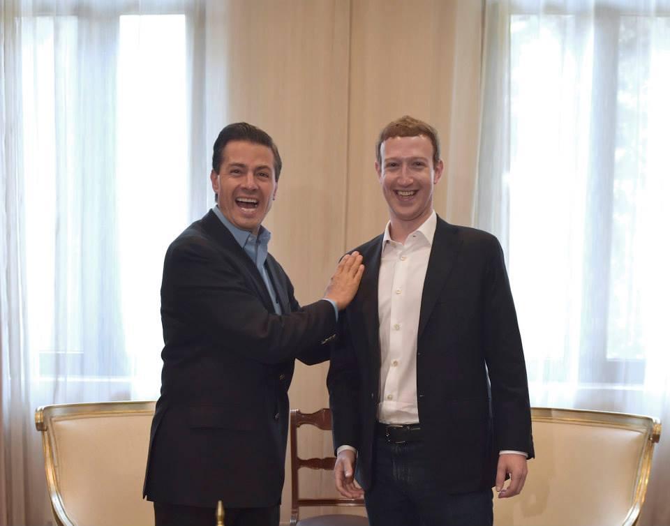 Zuckerberg meets Peña Nieto (Photo: sandiegored)