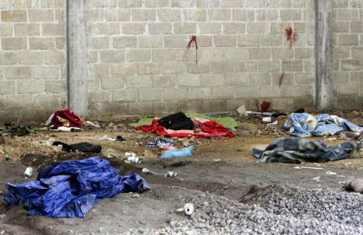 Crime scene in Tlatlaya, State of Mexico