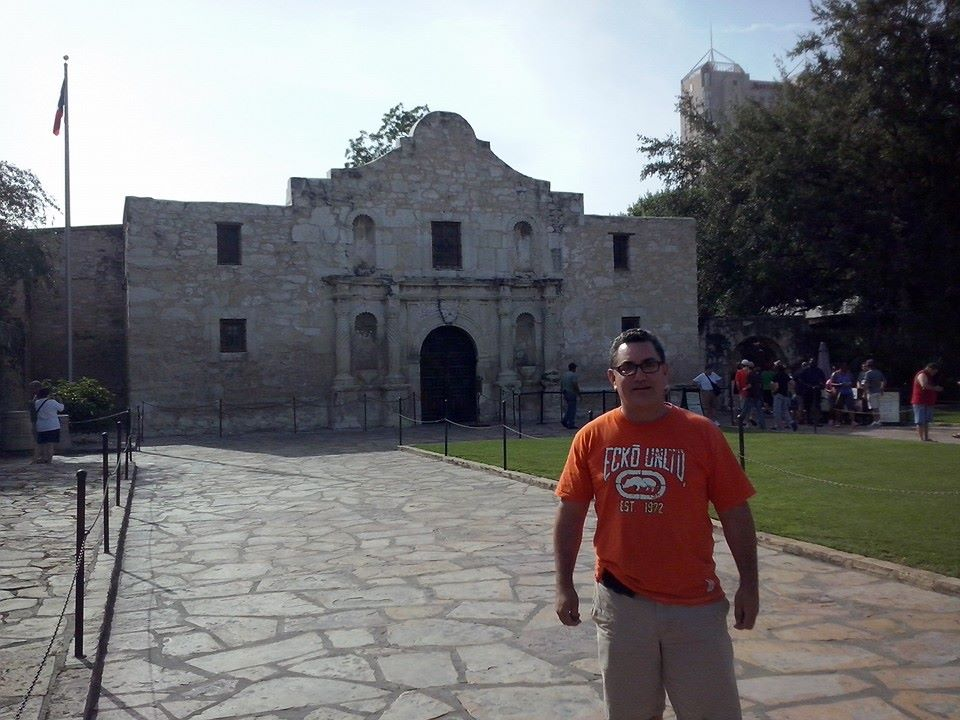 Alfonso Galindo at The Alamo, San Antonio, Texas.