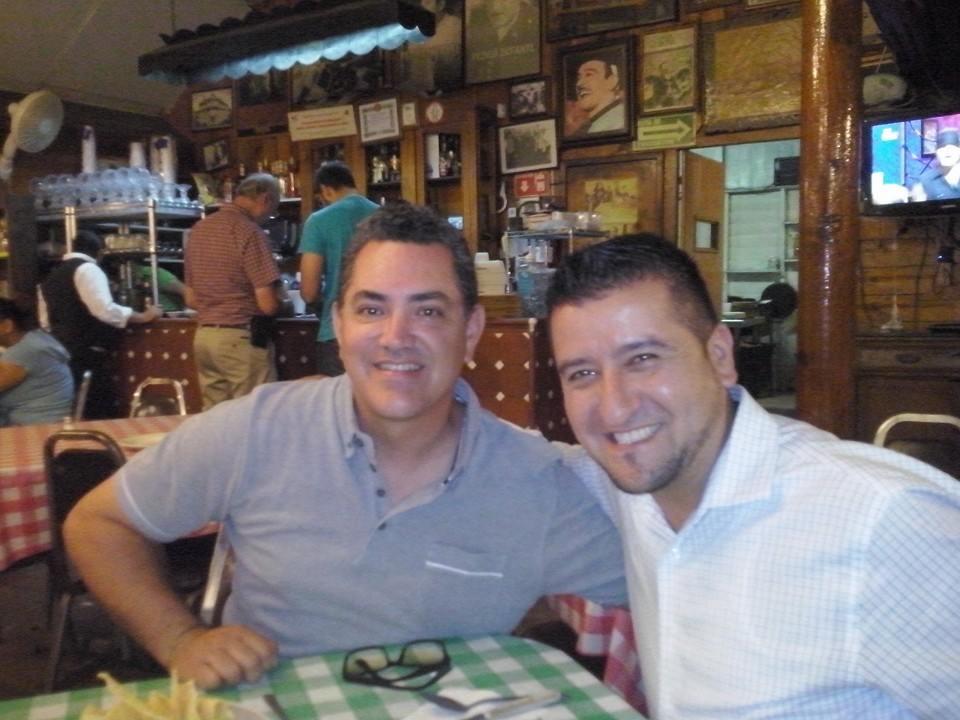 """Alfonso Galindo and Jose Luis Perez Caballero at """"El Castor"""""""
