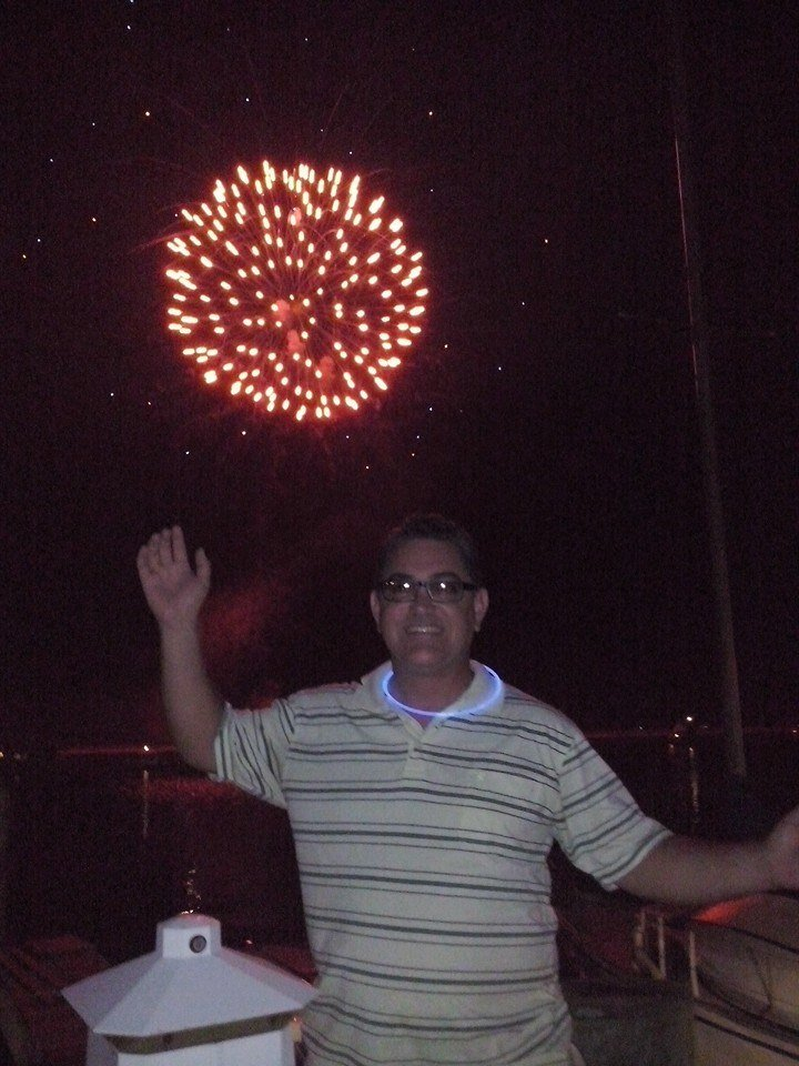 Alfonso Galindo celebrating Independence Day