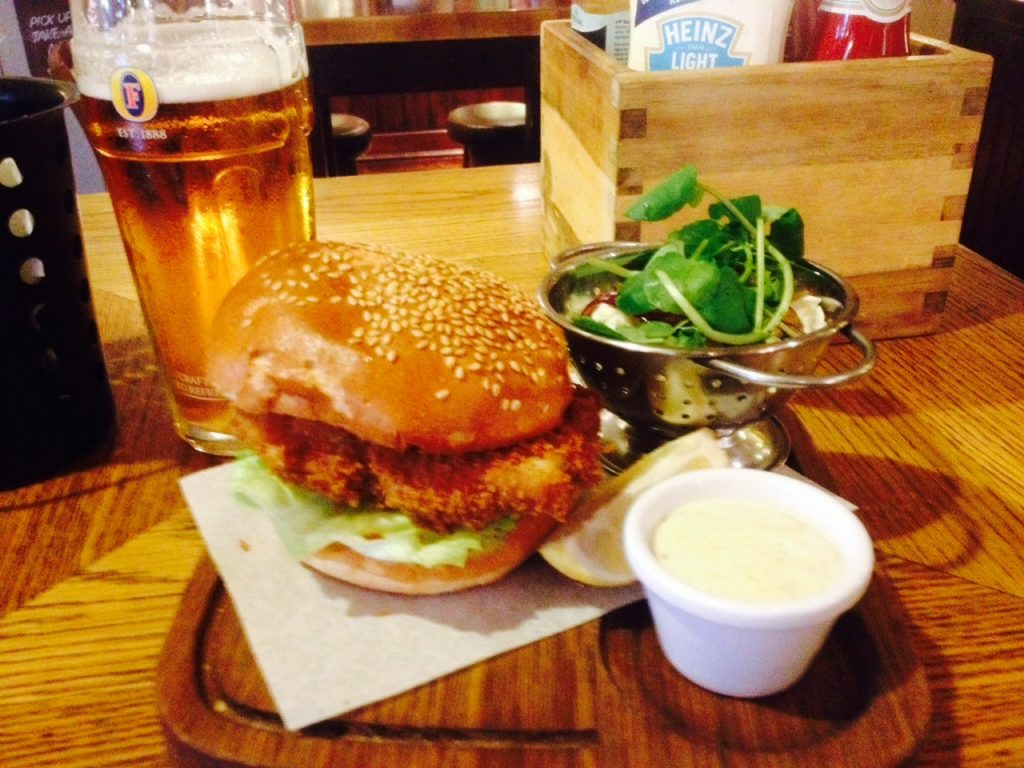 Fish Finger Sandwich at The Sawyer's Arms