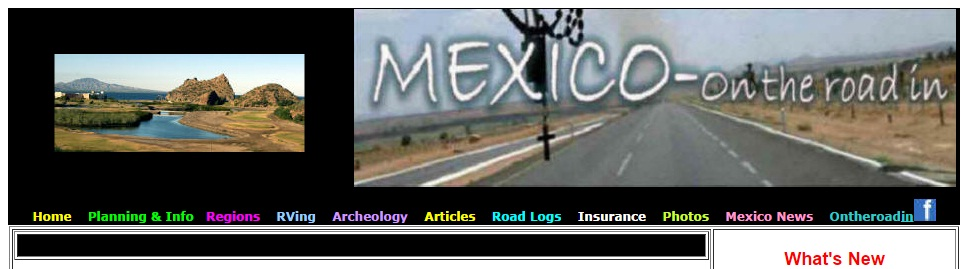 Mexico on the Road In Website
