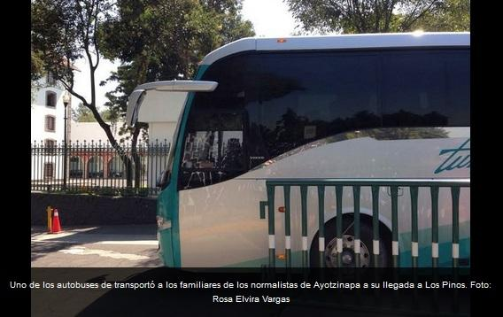 Relatives of the 43 missing students met with President Peña at Los Pinos Presidential Residence