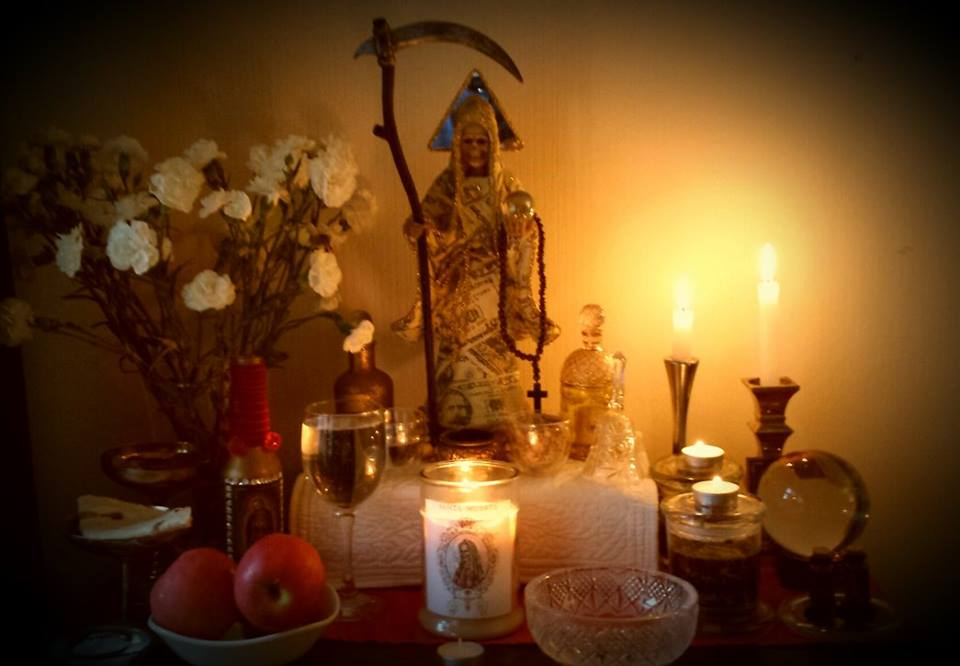 German devotee built an altar to venerate Santa Muerte (Photo: R. Chesnut)