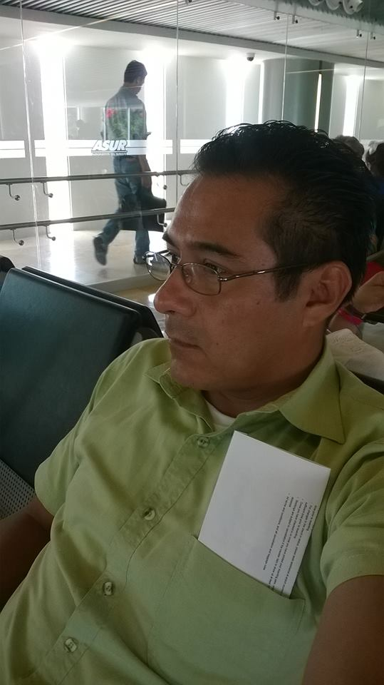Raul Ponce de Leon in Merida International Airport