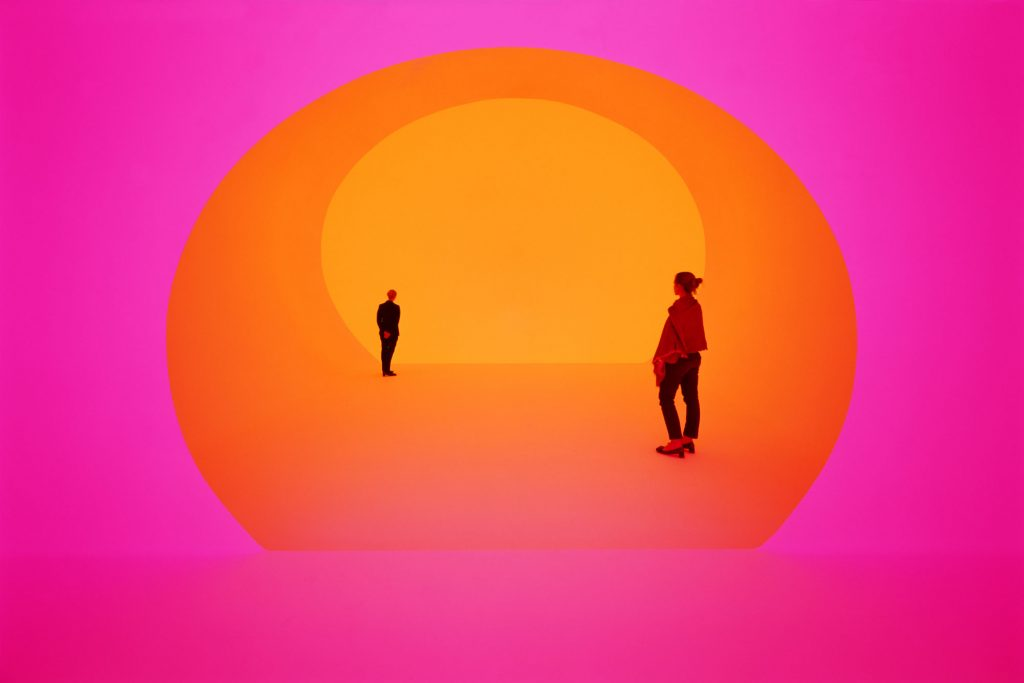 Turrell's work at the Shops at Crystals in Las Vegas. The piece, tucked away on the third floor of Louis Vuitton (Photo: Google)