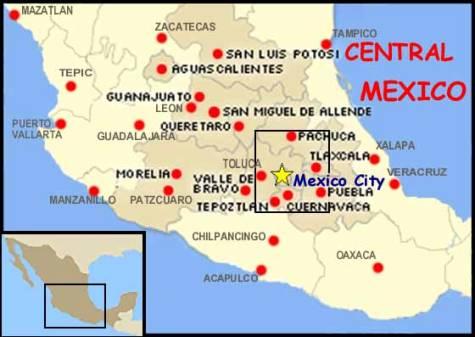Guerrero Morelos Michoacan And Estado De Mexico The States With