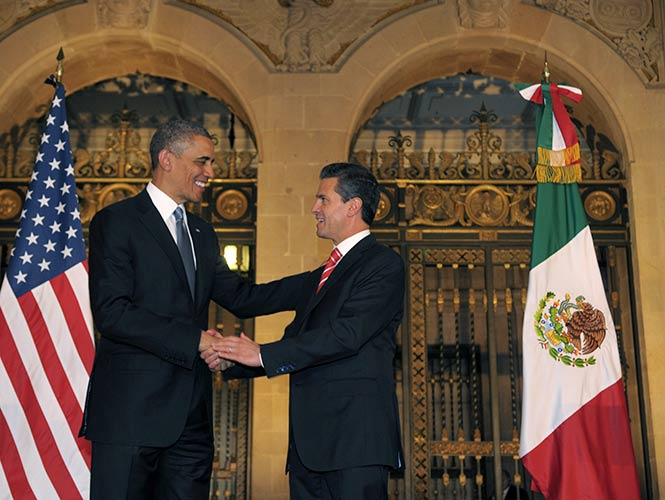 Peña Nieto and Obama during a meeting in Mexico in July 2014 (Photo: Google)