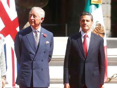 Enrique Peña Nieto and Prince Charles of Wales (Photo: The News MX)
