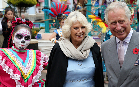 Prince Charles, Prince of Wales and Camilla, Duchess of Cornwall visited Real del Monte on the Day of the Dead (Getty Images)