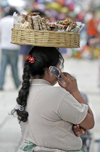 Mexican Cellphone User