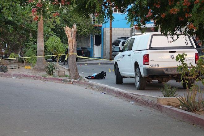 Crime scene in La Paz (Photo: bcsnoticias)