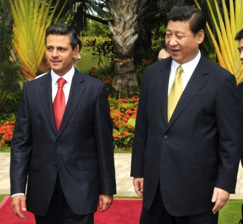 Mexican president Enrique Pena Nieto will attend the Apec summit in Beijing and make a two-day state visit in his latest effort to forge closer ties with China. Photo: EPA